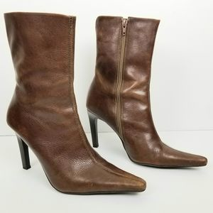 Steve Madden Triall Leather Boot Mid Calf Sz 8